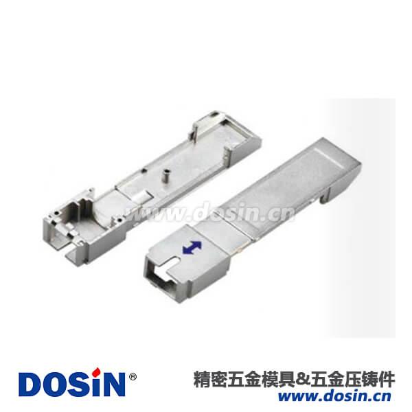 锌合金 压铸光模块连接器外壳喷砂镀镍