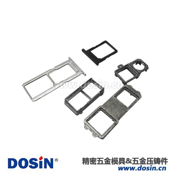 电子配件锌合金压铸SIM卡套配件