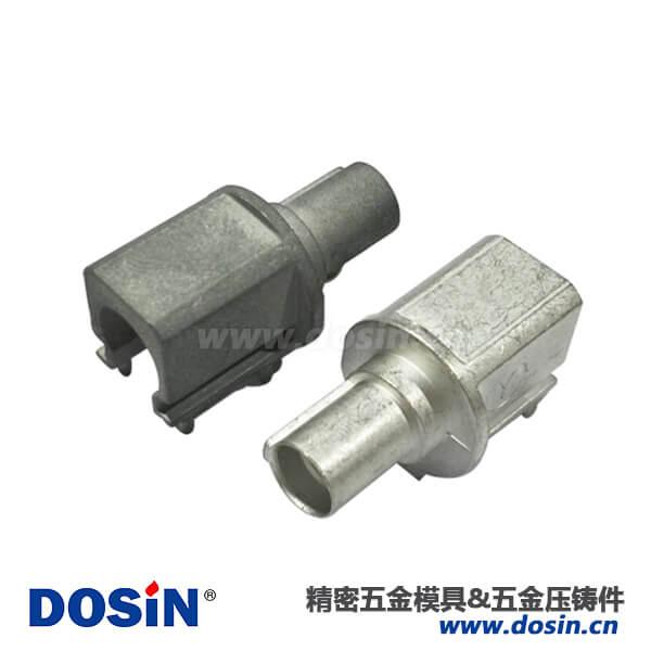 锌合金压铸外壳喷砂电镀雾锡汽车连接器