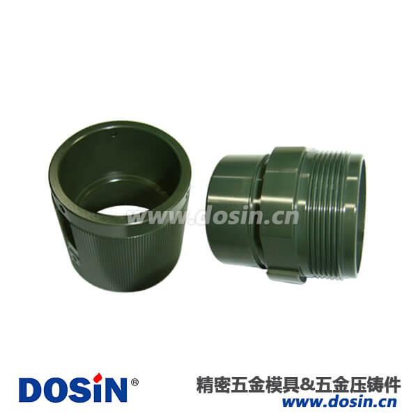镀军绿铝合金压铸壳体军用连接器