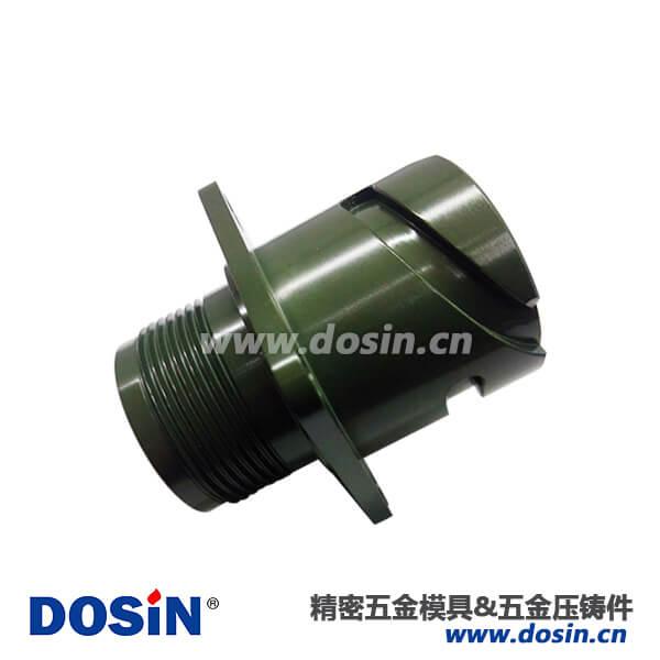 方盘卡口铝合金压铸军绿色连接器