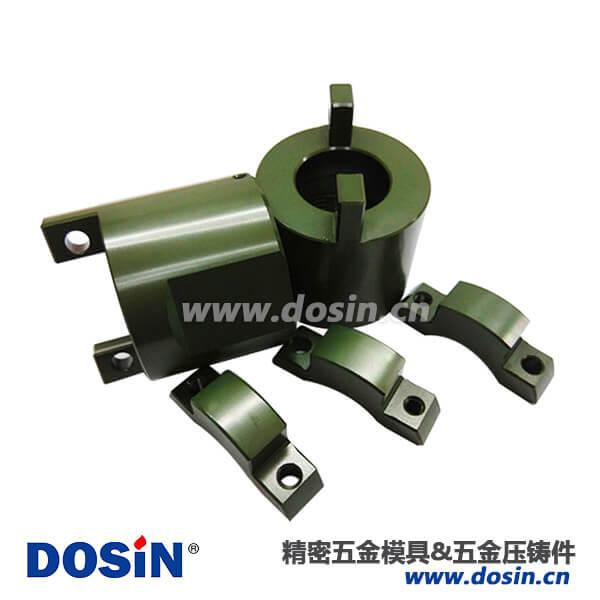 铝合金压铸尾夹压板电镀军绿航空插件