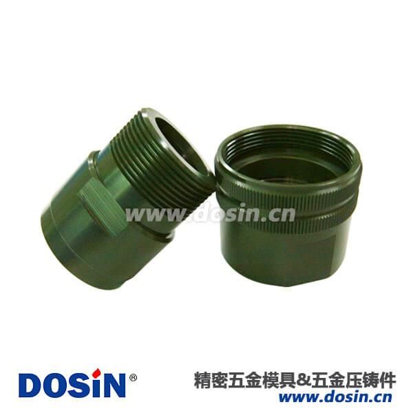 铝合金压铸电镀绿锌壳体圆形连接器