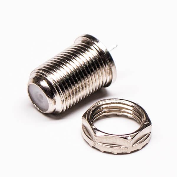 F连接器母头精密压铸螺纹连接
